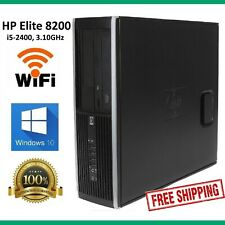 HP Elite 8200 SFF PC i5-2400 3.10, 8GB RAM, 1TB, DVDRW Win10 64bit Office WiFi