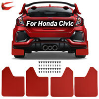 Red Mud Flaps For Honda Civic Type R S Si coupe Mudguard Splash Guards Mudflaps