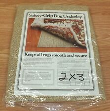 2 X 3' (foot) Tan Colored Rubber Safety Grip Rug Underlay Mat **READ**