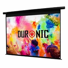 Duronic EPS92/169 92-Inch 16:9 Electric Motorised Projector Screen HD Matt White