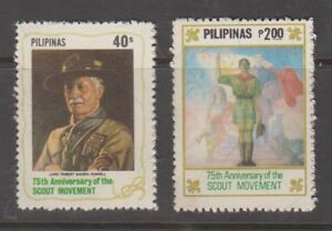 Philippine Stamps 1982 Scouting Movement, 75th Anniversary, Complete set,MNH