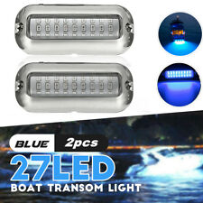 2x LED Wasserdicht Bootsbeleuchtung Unterwasser Beleuchtung Hecklicht Lampe Blau