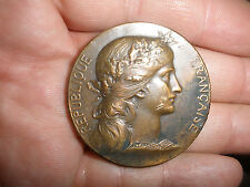 ANTIQUE 1903 FRENCH COMMEMORATIVE MEDAL BY DANIEL DUPUIS AWARDED ROGER ZEPHIRIN