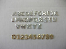 Buchstaben u. Zahlen aus Wachs, 8mm gold und silber NEU