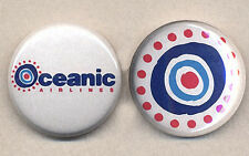 LOST OCEANIC AIRLINES pair of pin button badges - COOL!