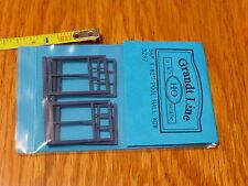 """Grandt Line HO #5287 (56"""" x 82"""" Pool Hall Windows) pcs. 4 (Plastic Parts)"""