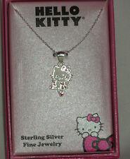 Hello Kitty Sanrio Sterling Silver Ballerina Necklace Nib $110 Sale