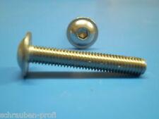 10 Muttern Edelstahl + 10 Schrauben ISO 7381 M5 x 8 mm Nirosta VA