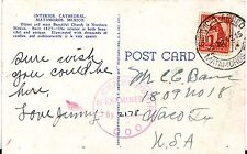 1942 Mexico Matamoros postcard Airmail Cover to Waco TX USA