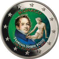 Monaco 2 Euro 2018 Francois Joseph Bosio Polierte Platte Münze im Etui in Farbe