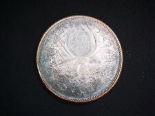 1966 Canada 'Toned' Silver 25 Cent Coin