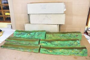 TRIANG R185 COUNTRYSIDE SERIES SET of 6 INCLINED RUBBER EMBANKMENTS BOXED