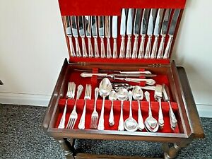 George Butler-Sheffield 78 Piece Silver Plated Canteen of Cutlery -Gadroon