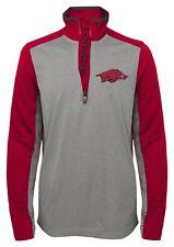Arkansas Razorbacks Long Sleeve Boys Shirt 1/4 Zip Top with Pockets Youth XL 18