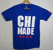 Adidas Tee Chicago CHI MADE Shirt Size Medium Blue Cubs MLB NWOT