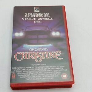 John Carpenter's Christine (1986) Big Box VHS Cassette [VG+] Columbia Pictures