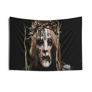 Indoor Wall Tapestry.. Wall décor fabric poster Joey Jordison Slipknot Drummer