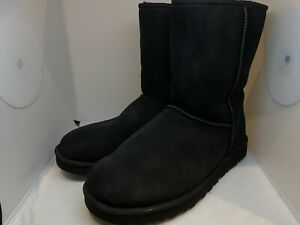 UGG Classic Short Men's Suede Boots In Black Size 13 MSRP $200