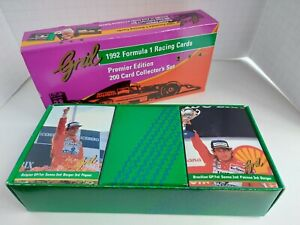 1992 Formula 1 Premier Edition Racing Cards Complete Set Open Box but New
