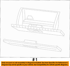 CHRYSLER OEM-Glove Compartment Box 1SQ83DX9AB