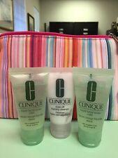 Lot Of 3 -Clinique Liquid Facialsoap & Clinique Rinse Off Foaming Cleaner.
