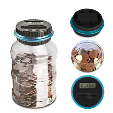 Electronic Digital LCD Coin Counter Counting Jar Money Saving Piggy Bank Box CHK