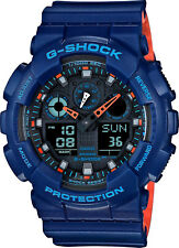 Casio G-Shock GA100L-2A Digital-Analog Men's Wristwatch - Blue