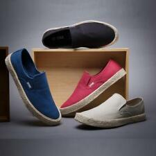 Hot Men Slip on Canvas Casual Espadrilles Youth Spring  Low-top Shoes Sz mt58