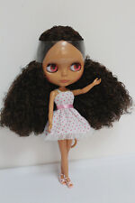"""12"""" Neo Blythe doll nude Takara doll from factory Brown black  curly hair #16"""