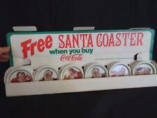 Vintage Coca Cola Store Display Metal Coaster Christmas Santa Claus