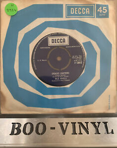 """1972 WILD ANGELS - GREASED LIGHTNING -  7"""" VINYL 45 SINGLE RECORD -  EXCELLENT"""