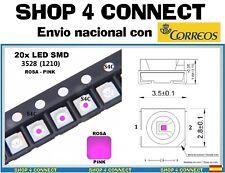 20 LED SMD ROSA PINK  3528 / 1210 SMT CAR automocion ARDUINO 3.5 x 2.8 TUNING