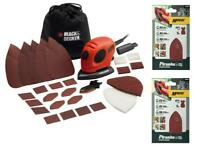 BLACK AND DECKER KA161BC MOUSE DETAIL SANDER + 2 PACKS OF X31024 SANDING SHEETS
