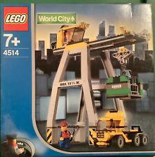 LEGO set #4514 World City Cargo Crane. BRAND NEW. RARE ITEM.