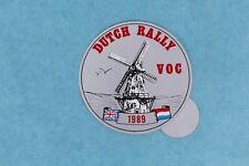 VINTAGE 1989 VOC HRD VINCENT MOTORCYCLE CLUB DUTCH RALLY HELMET STICKER