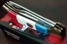 New listing American Flag Bone Hunting Pocket Knife W/ Red White Blue Bone Saddlehorn !