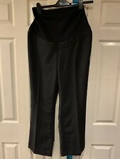 BM Mother Care Maternity Black Long Trousers Size 12 New With Tags