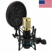 Condenser Microphone Mic Shock Mount Holder Clip Stand For Studio Recording