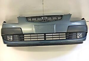 KIO RIO MK2 COMPLETE FRONT BUMPER WITH FOG LIGHTS AND GRILLE 2005-2009
