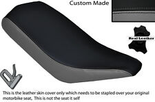 BLACK & GREY CUSTOM FITS BASHAN 200 QUAD DUAL LEATHER SEAT COVER ONLY