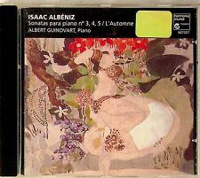 ALBENIZ Piano Sonatas No.3,4,5 L'Automne ALBERT GUINOVART CD (READ)