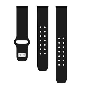Quick Change Silicone Sport Watch Band 22mm Black Strap for Samsung Galaxy Watch