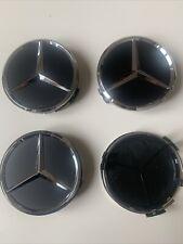 CABOCHONS DE CENTRE DE JANTE ALU X4 Mercedes / Cache Moyeu / 75 Mm / Neuf