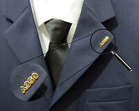 Pin Airbus A350 XWB Logo Numbers 25mm Pin Gold for Pilots Crew 350
