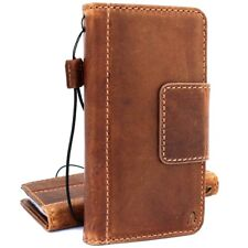 Genuine leather case for Samsung Galaxy S9 Plus Magnetic Card slots holder retro