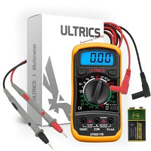 Digital Multimeter LCD Circuit Checker Capacitor AC DC Voltage Tester Amp Ohm