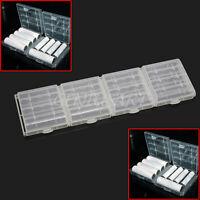 4X Schutz Akkubox Batteriebox Aufbewahrungsbox Plastik f.AA/AAA Akku nicht inkl.