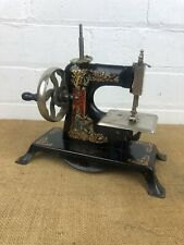 Antique Tin Plate Casige German Toy Sewing Machine