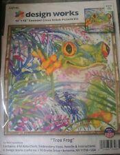 "Design Works Natures Amphibian Tree Frog Cross Stitch Kit 12 x 12"" # 3267 *"