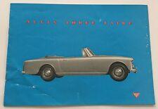 1959 Alvis Park Ward and Graber Original Car Brochure Folder and Company Letter